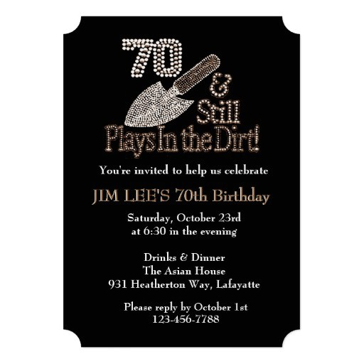 funny 70th birthday invitations