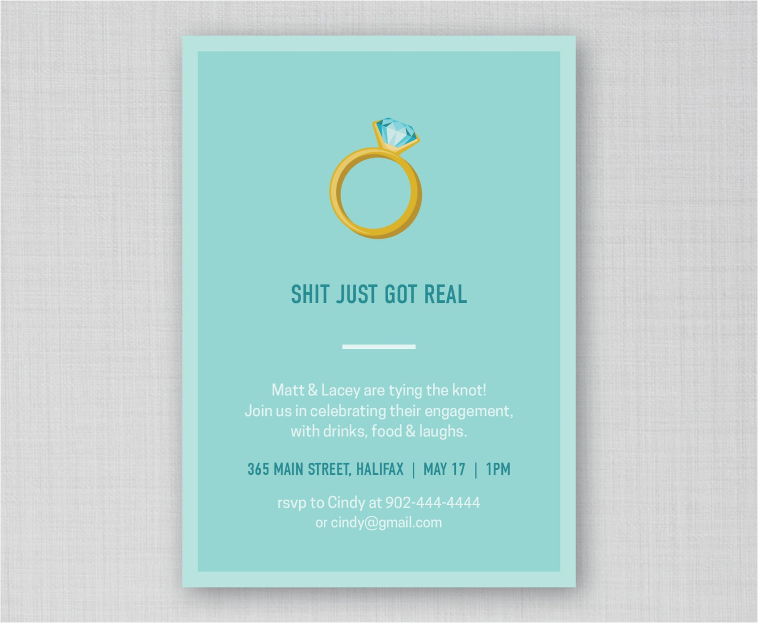 funny engagement party invitation funny