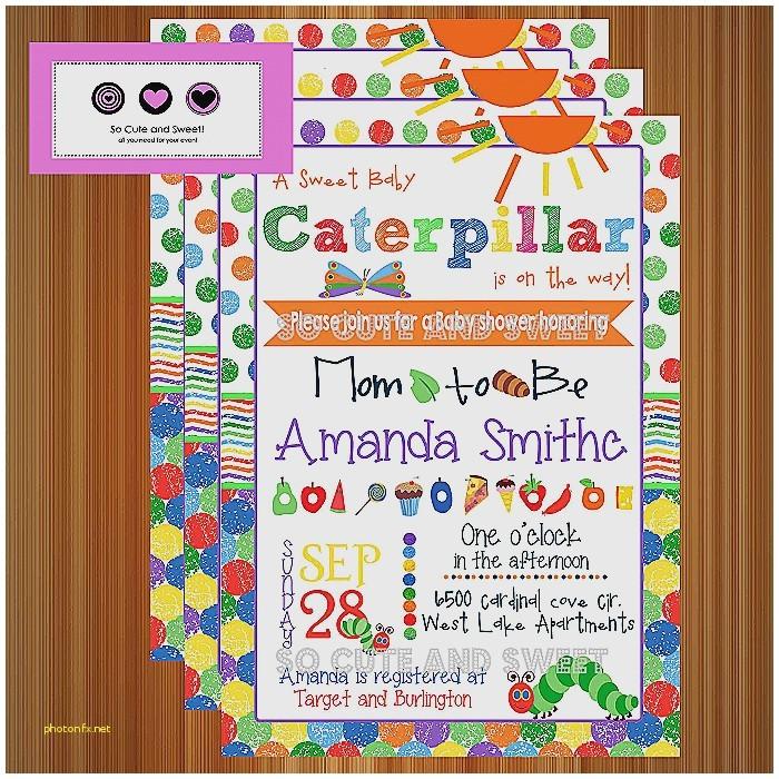 very hungry caterpillar baby shower invitations