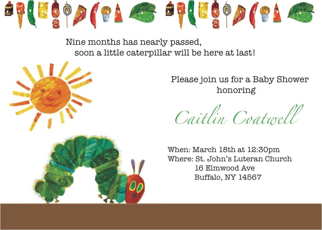 very hungry caterpillar baby shower