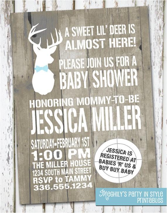hunting theme sweet lil deer baby shower