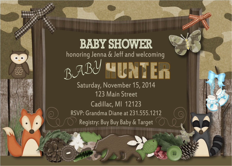 woodland baby shower invitation fall