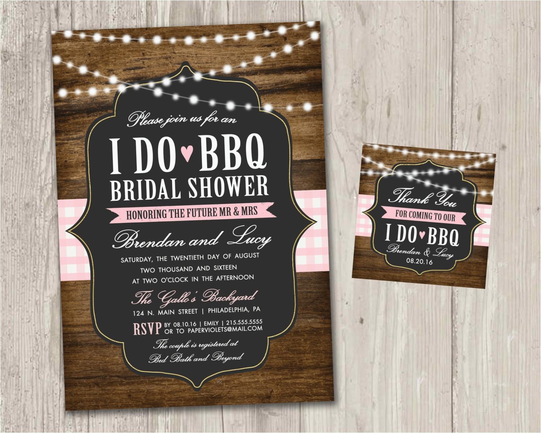 I Do Bbq Bridal Shower Invitations I Do Bbq Bridal Shower Invitations Backyard Wedding
