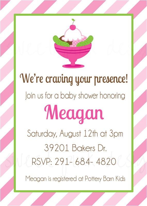 pickles and ice cream baby shower
