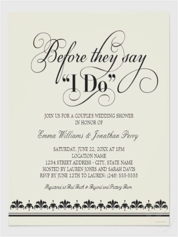 wedding shower invitation ideas