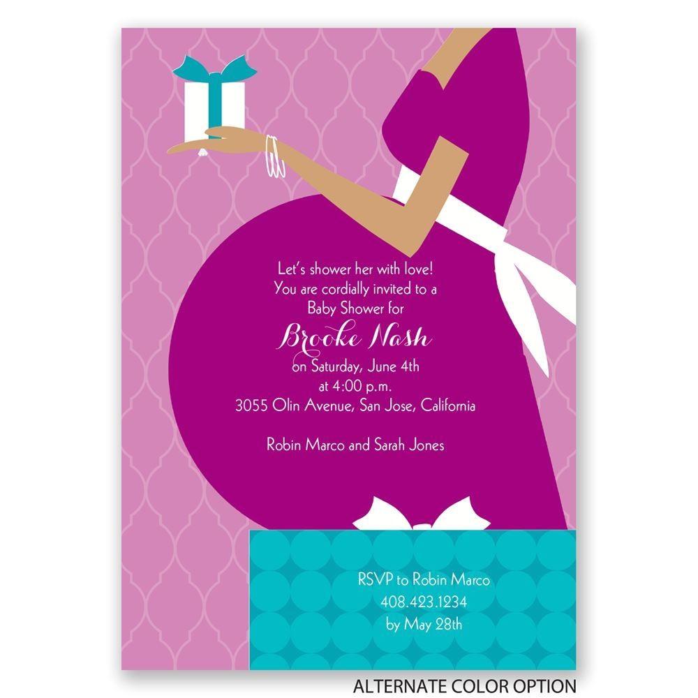 true t baby shower invitation