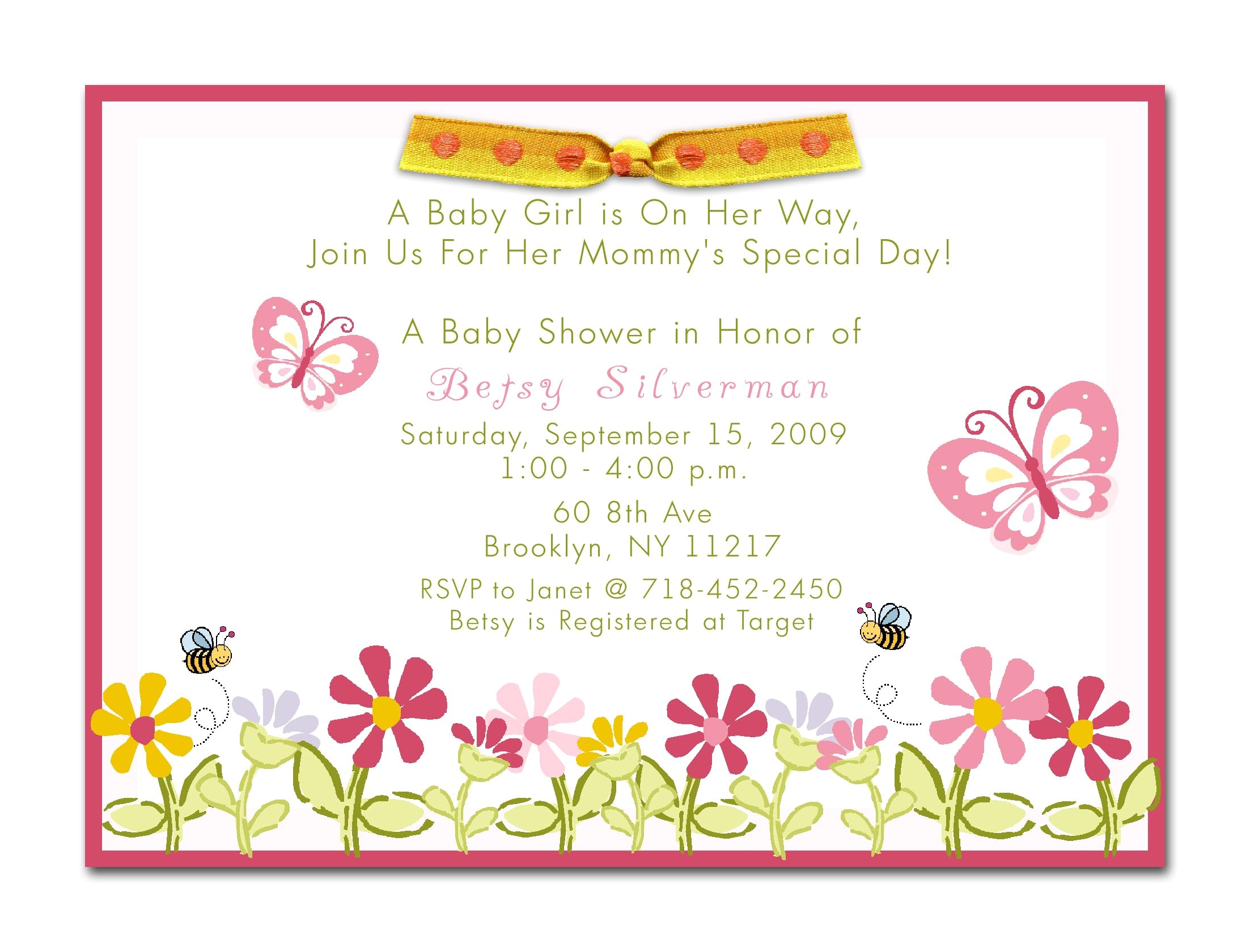 baby shower invitations for girls cheap