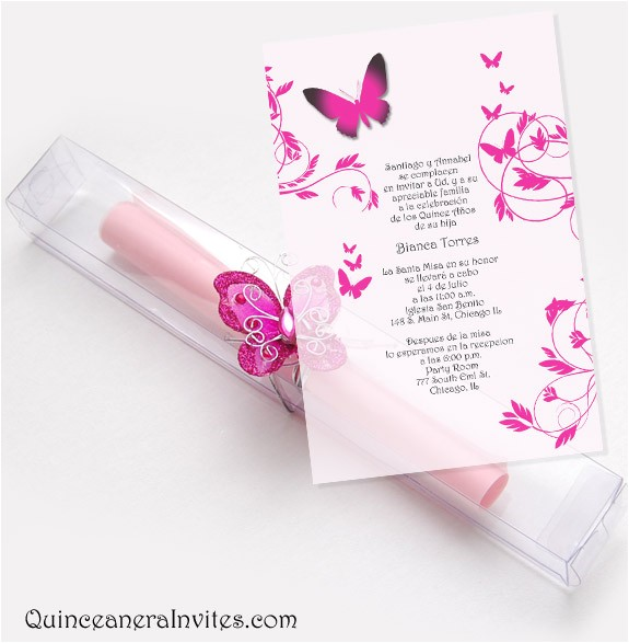 scrolls 16 quinceanera invitations