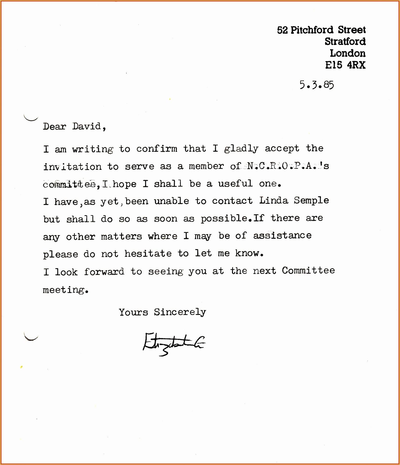sample invitation letter informal