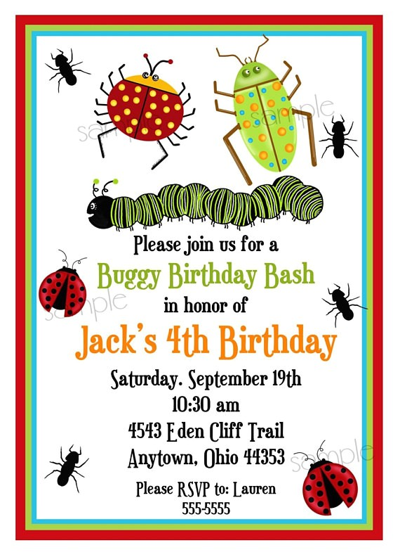 bug invitations bugs insects camping