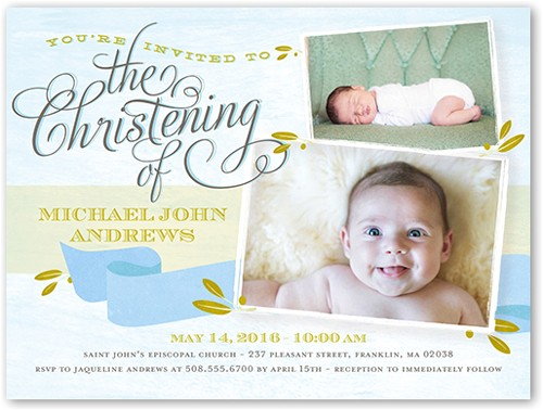 baby boy baptism invitations