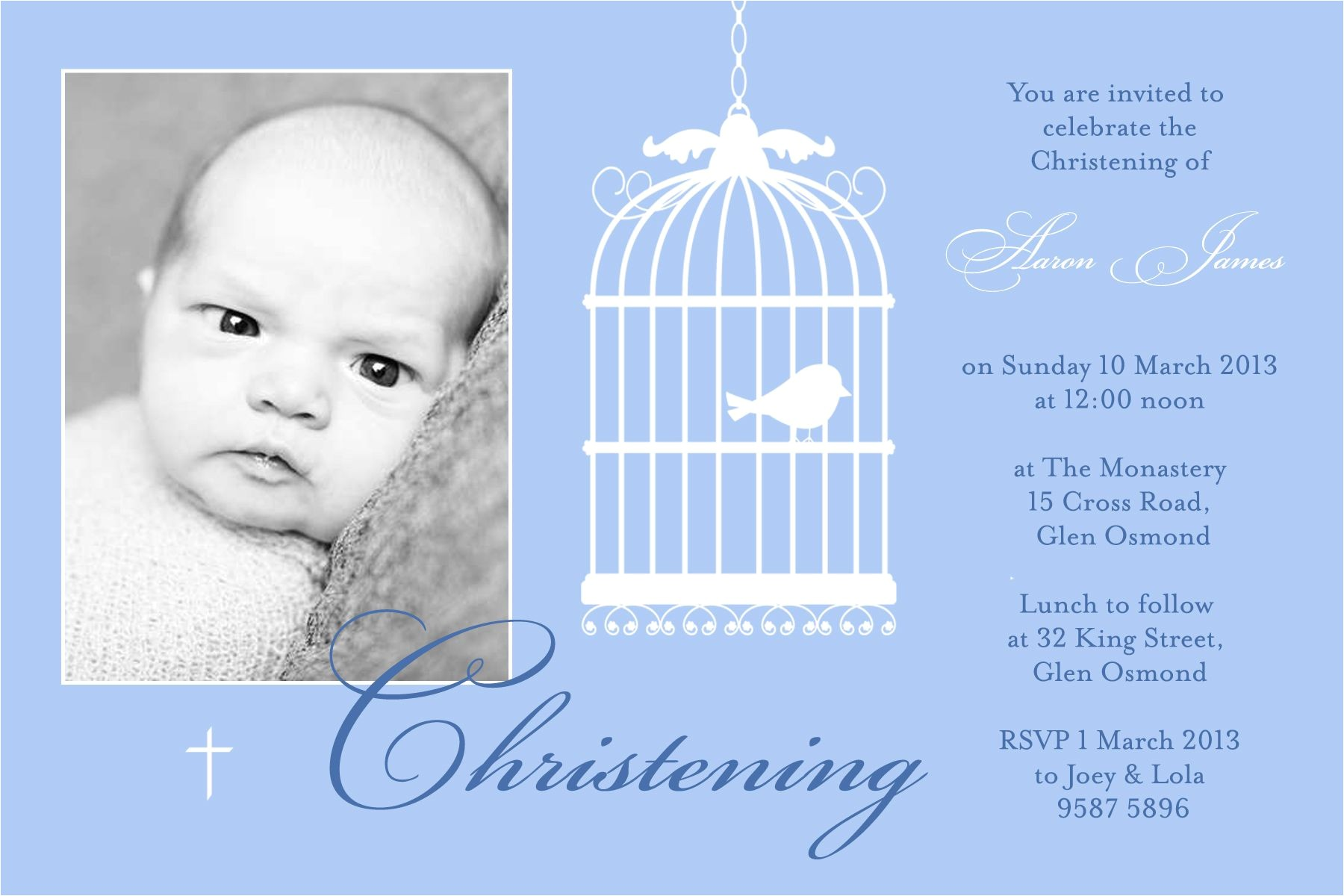christening invitation for baby boy templates