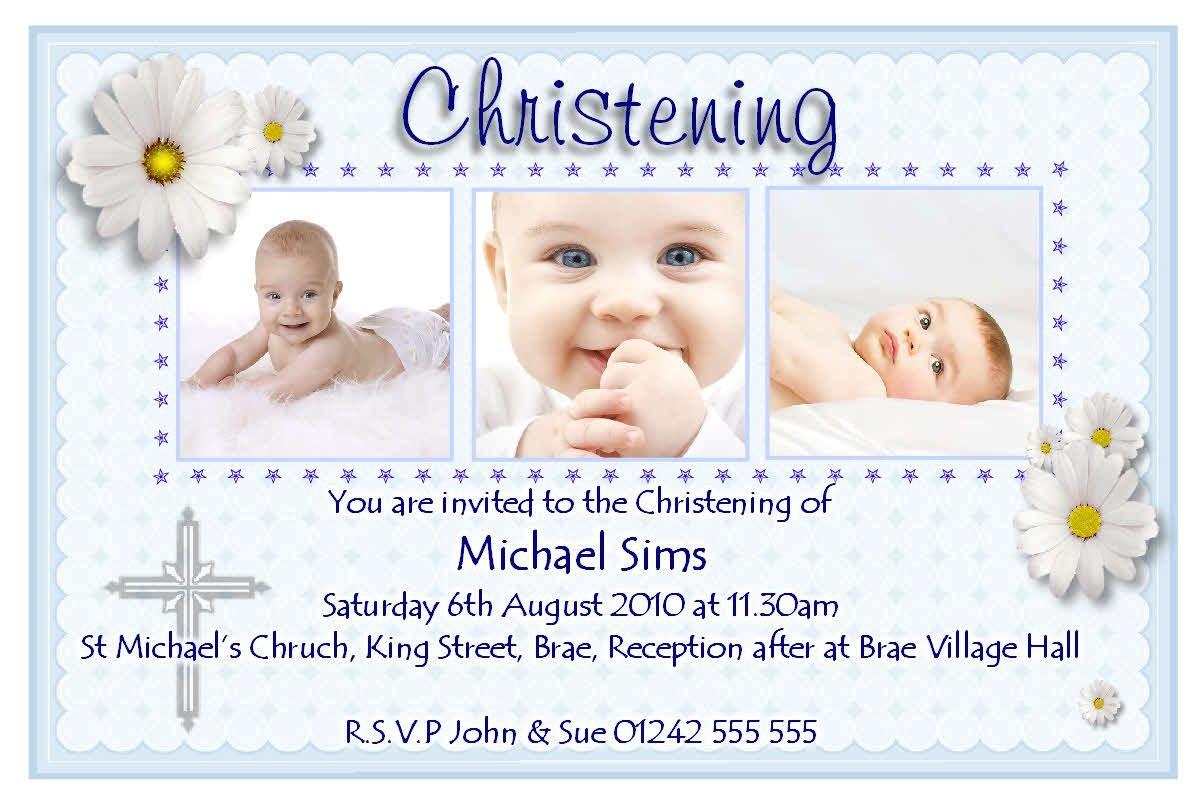 christening invitation cards design