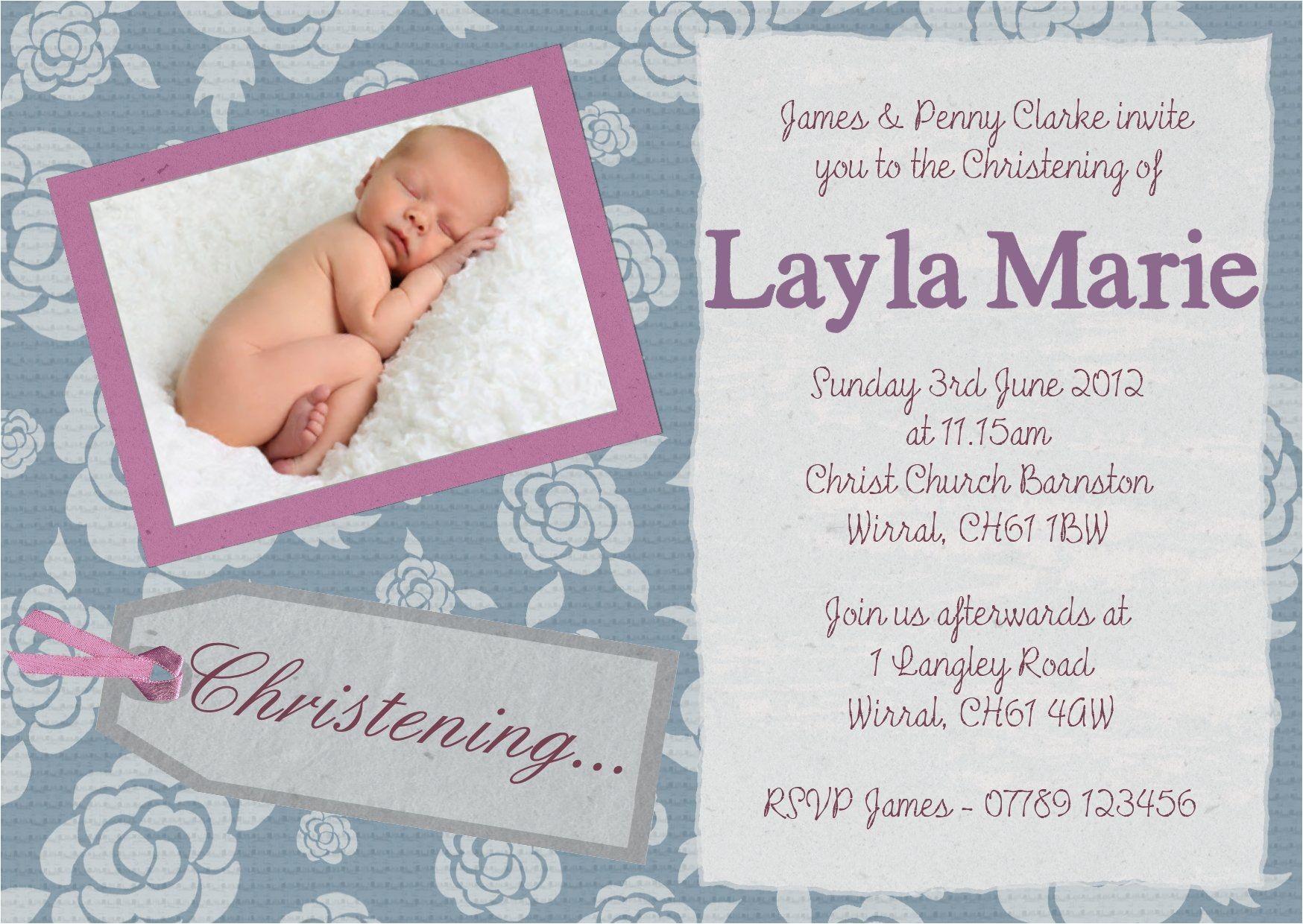 Invitation Card Design for Baptism Christening Invitation Cards Christening Invitation