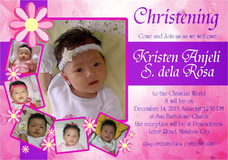 christening invitation card design 01