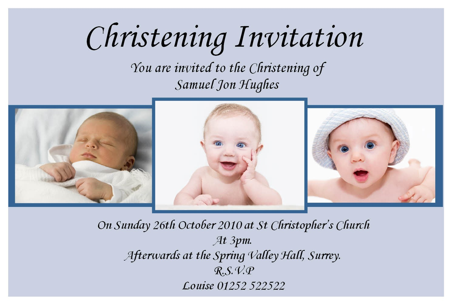 sample invitation card design of christening and baptism