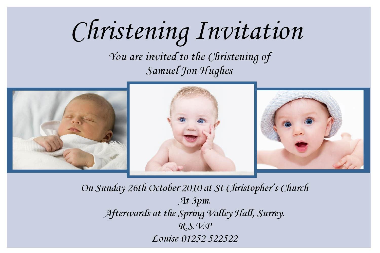 sample invitation card design of christening and baptism