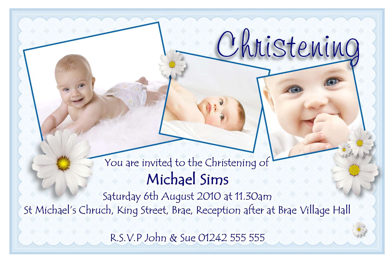 invitation card for christening boy