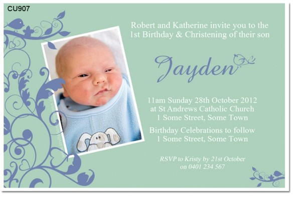 invitation for christening boy