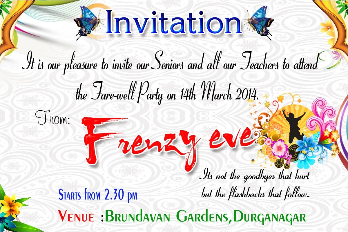 farewell party invitation cards designs