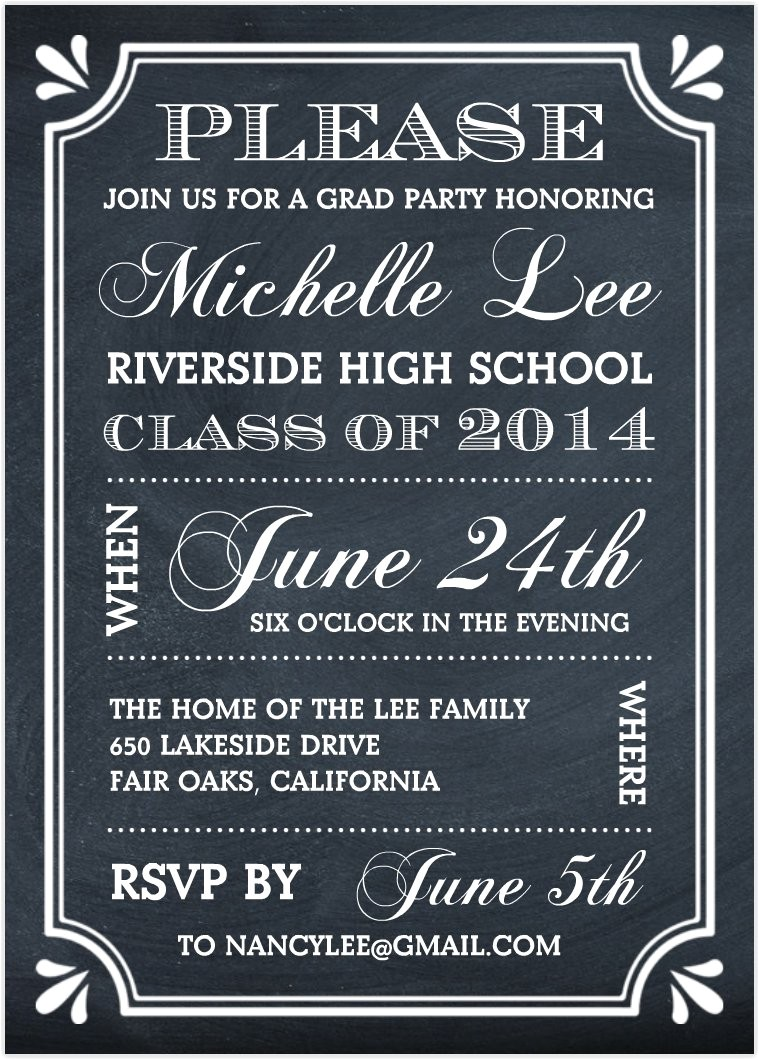 Invitation for A Graduation Party Graduation Party Invitations Graduation Party