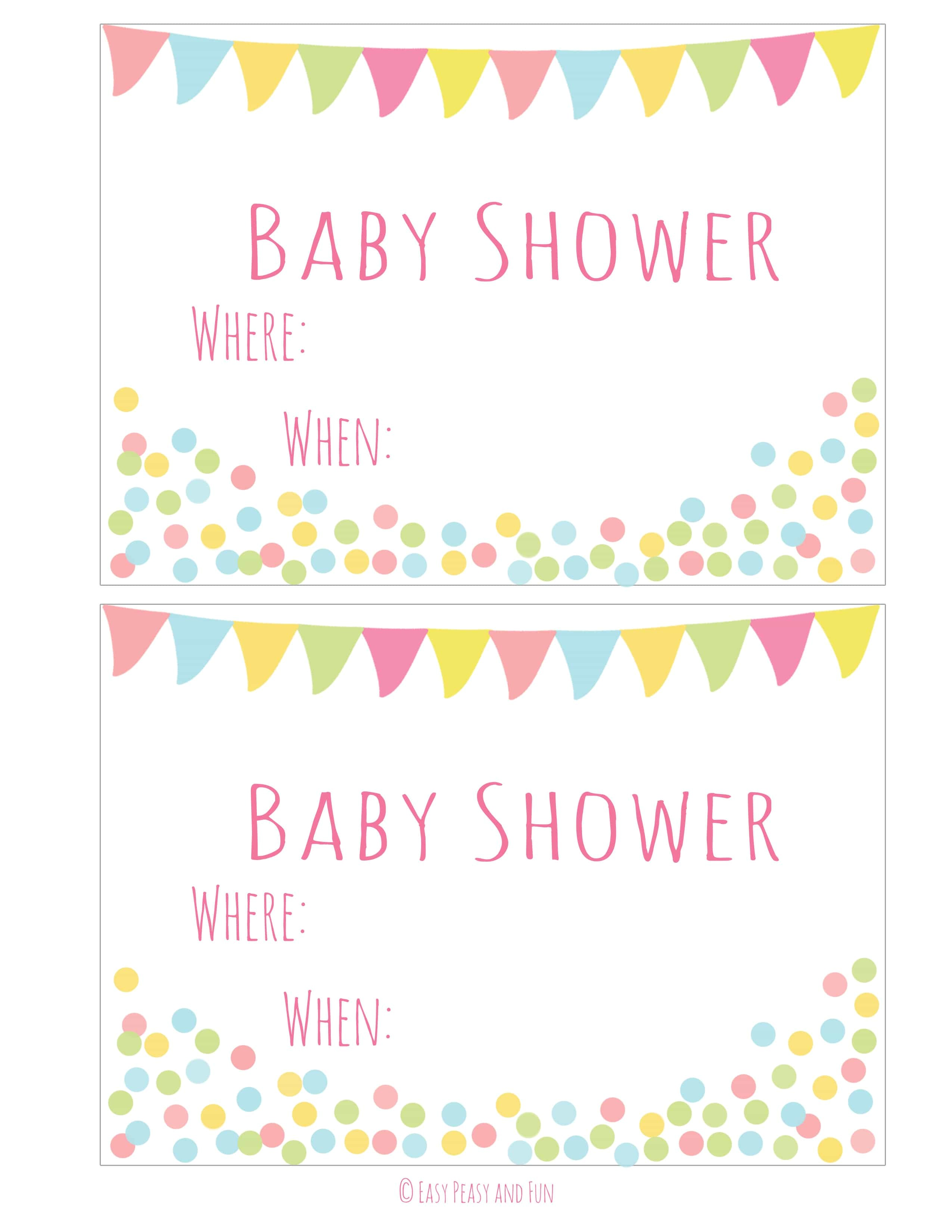 free printable baby shower invitation