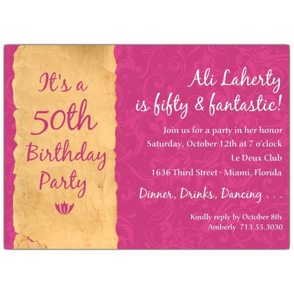 quotes for 50th birthday invitations