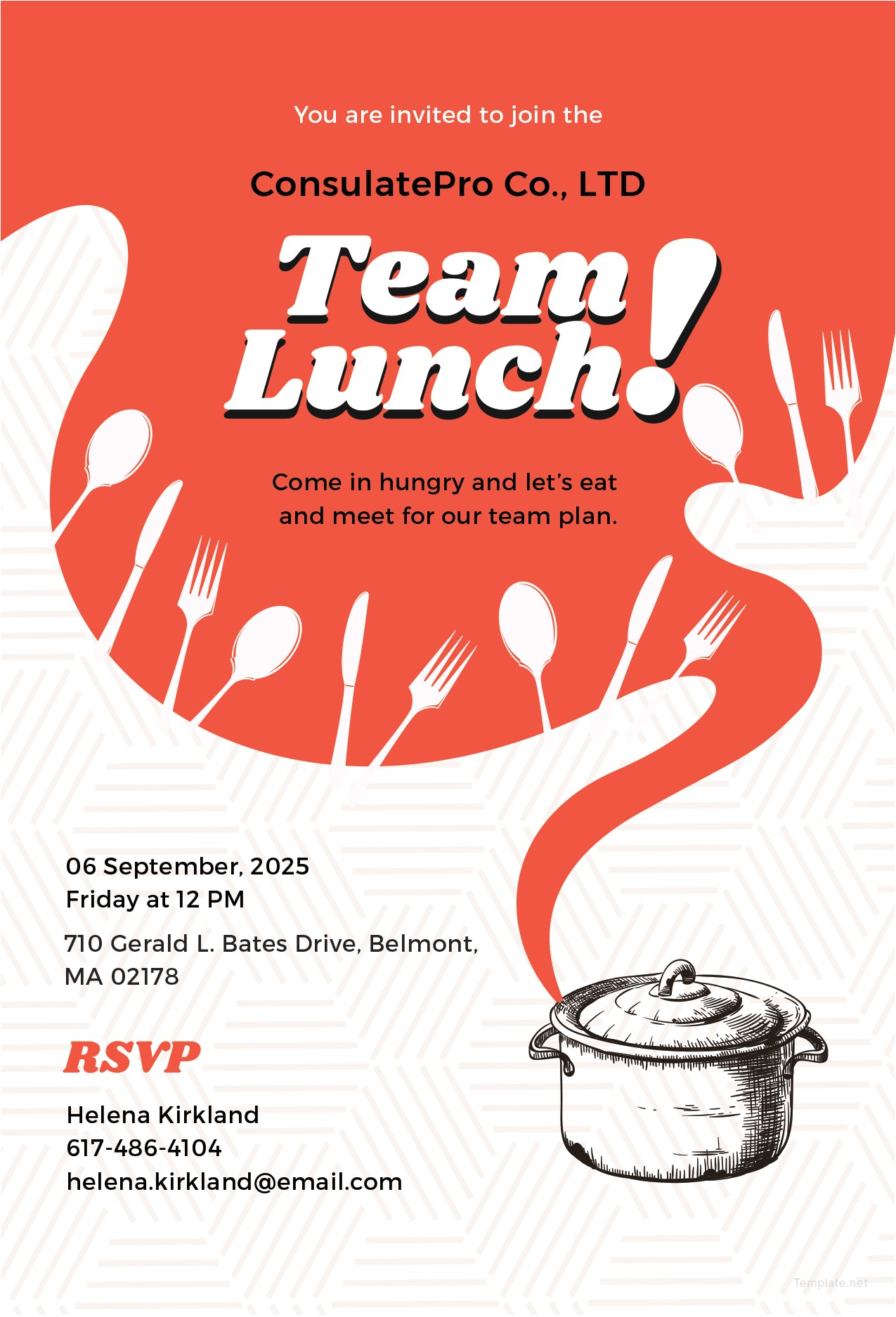 team lunch invitation