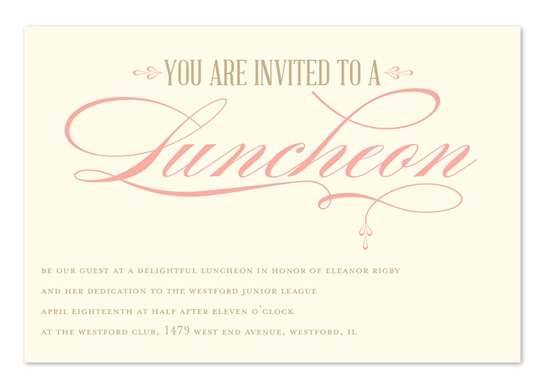 luncheon elegance