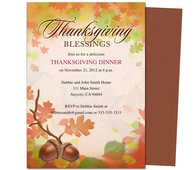 post thanksgiving printable invitation templates 138373