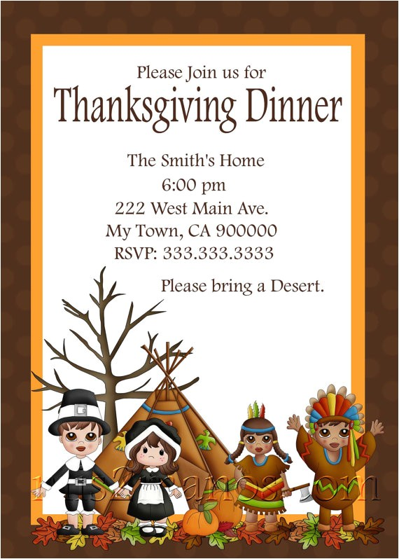 thanksgiving dinner invitation diy
