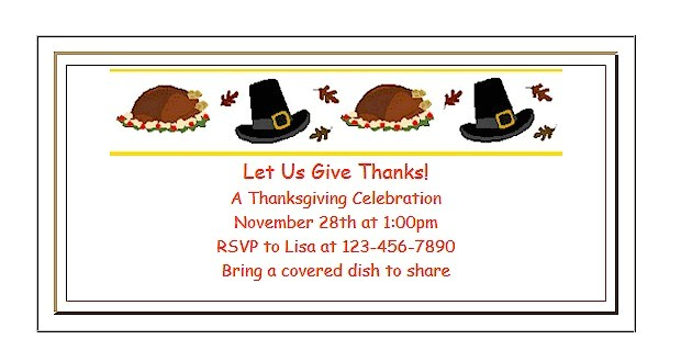 thanksgiving invitations for preschool