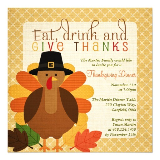 thanksgiving lunch invitations
