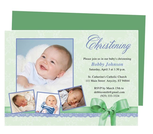 printable baby baptism and christening invitations