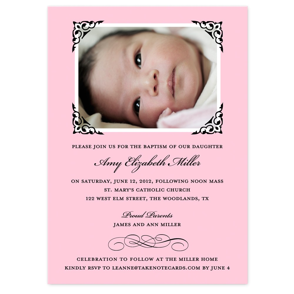 sample invitation for baby girl christening