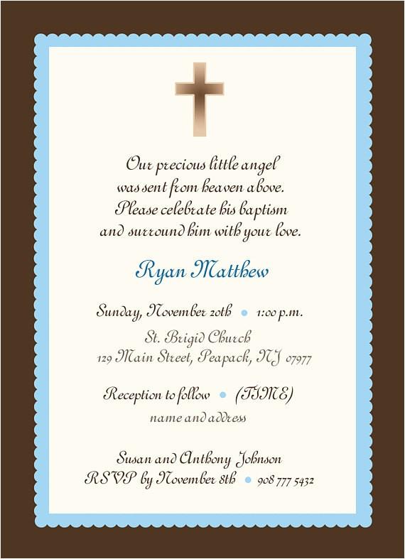 baby boy baptism invitation boy or girl