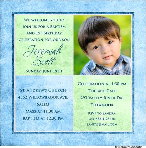 Invitation Message for Birthday and Baptism 1st Birthday and Christening Baptism Invitation Sample