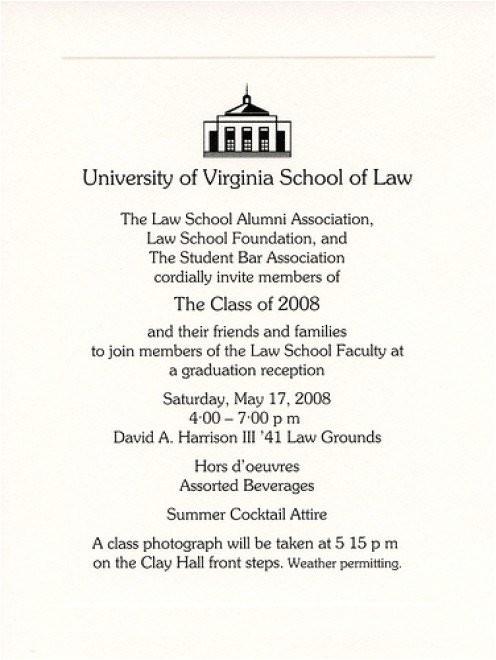 example of college graduation invitation