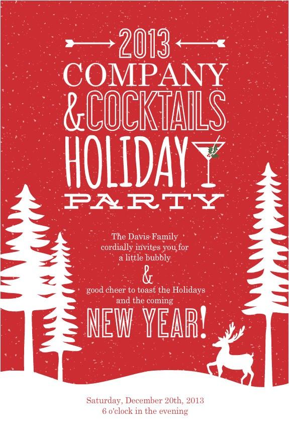 pany christmas party invitations