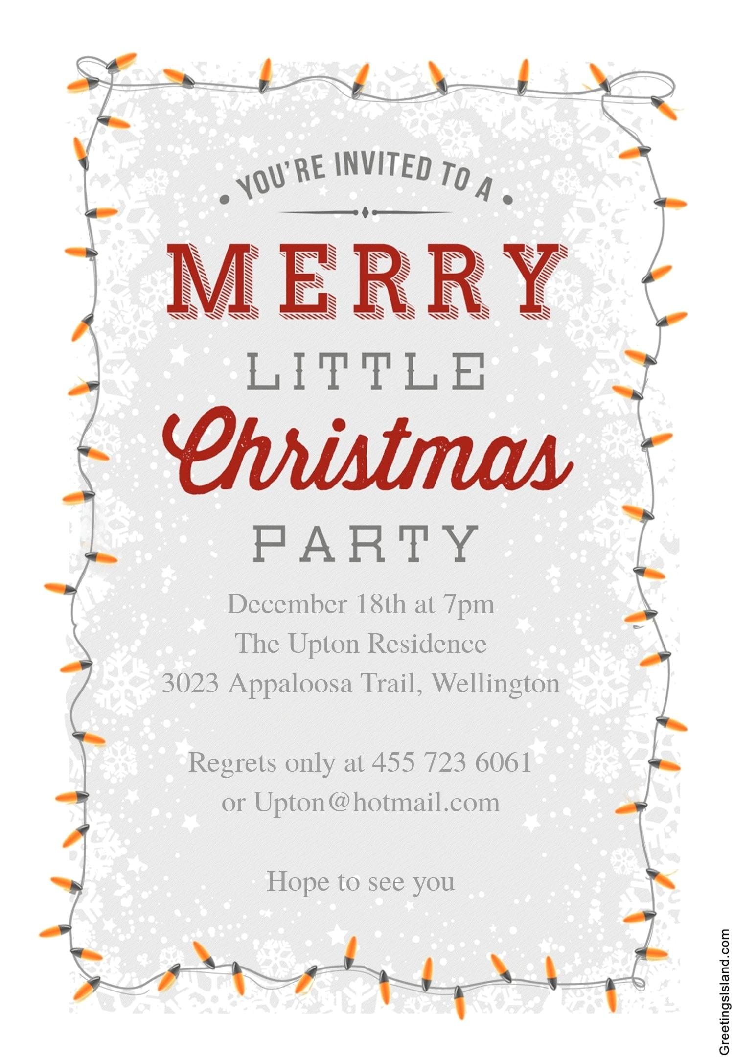 free printable holiday party invitation templates