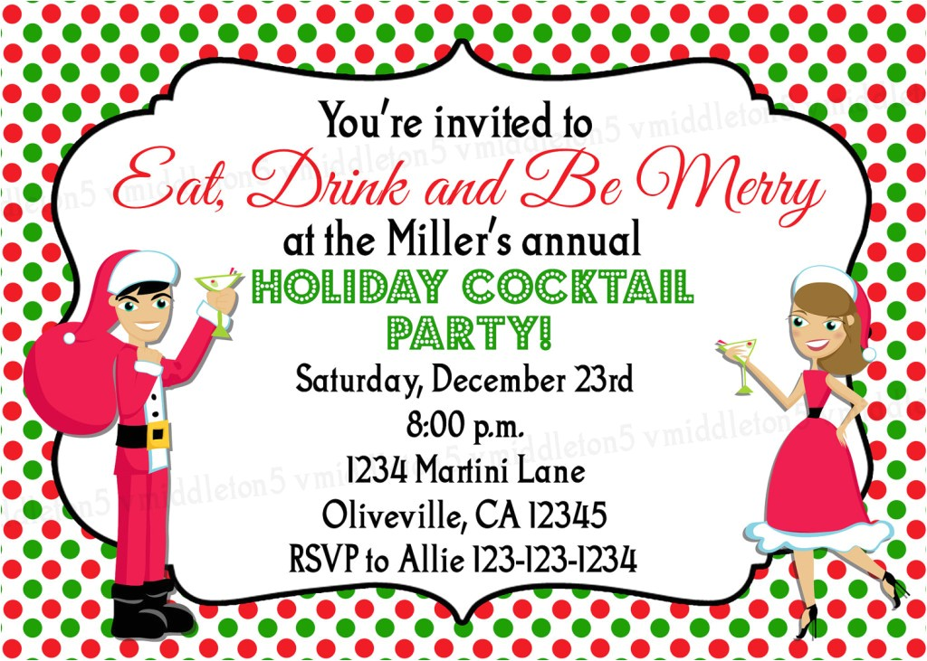 funny christmas party invitation wording ideas
