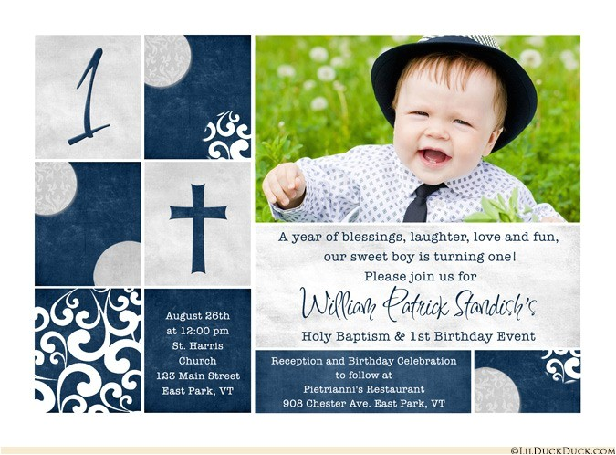 photo christening baptism invitations