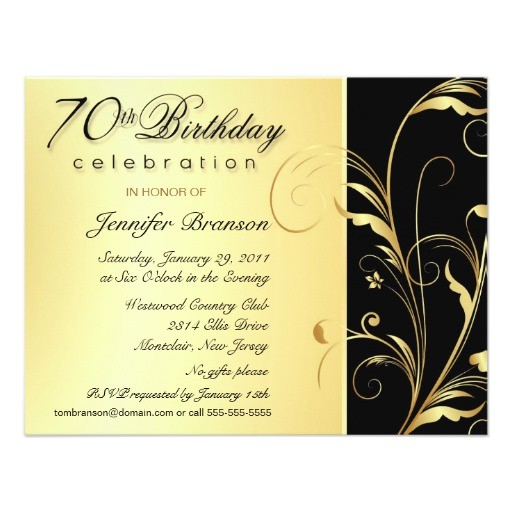Invitation Wording for 70th Birthday Surprise Party 70th Birthday Surprise Party Invitations Zazzle