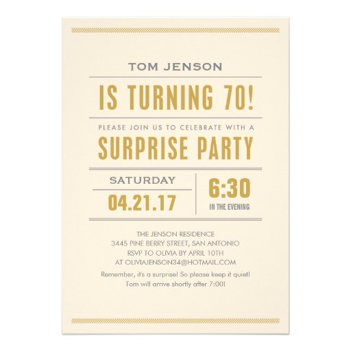 big type 70th birthday surprise party invitations 161946268615958077