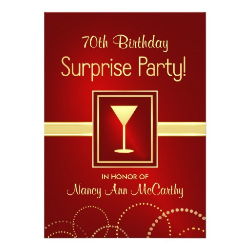 custom 70th birthday surprise party invitations 161000114999086362