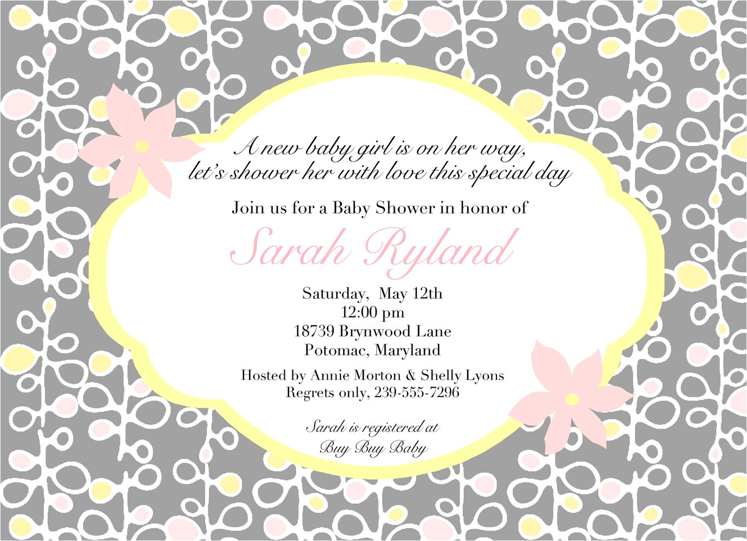 wording for baby shower invitations asking for t cards