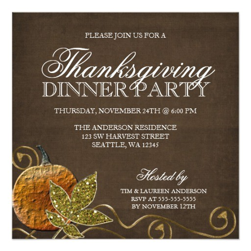 thanksgiving dinner party invitations 161103386993819473