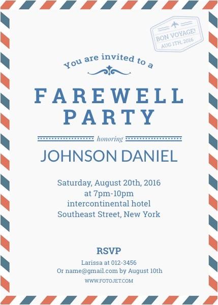 goodbye party invitation