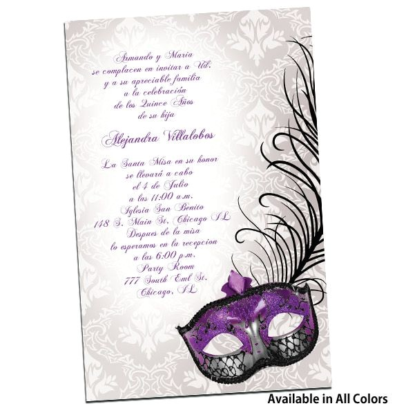 invitaciones xv