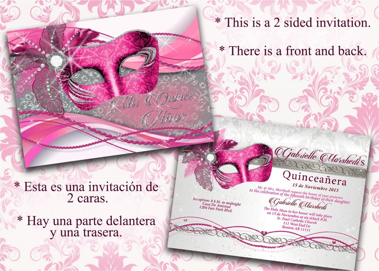 Invitations De Quinceanera Quinceanera Quinceanera Invitations Pink and Silver